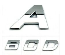 Car Stickers Auto Emblem Decals Bright Chrome  Letters Italic Type