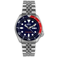New Seiko SKX175 Dive Men's Stainless Steel Dark Blue Dial Automatic Watch