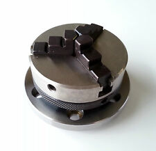Amadeal 65mm 3 Jaw Self Centring Lathe Chuck 14x1mm Thread + Backplate & T-Nuts