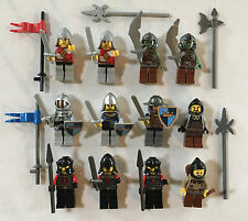 Lego Lot Castle Kingdoms KNIGHTS MINIFIGURES Red Lion Dragon Troll Warrior Crown