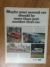 1969 Ford Bronco Ranchero Club Wagon Pickup Camper Ad