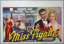 Affiche MISS PIGALLE Barbara Laage DORA DOLL Paul Cambo DANIEL CAUCHY Aff. Belge