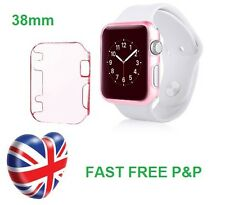 Pink Slim Thin Hard Snap On Case Cover Screen Protector Apple Watch iWatch 38MM