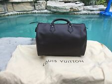 Louis Vuitton Mocha Epi Leather Speedy 30 Cassis Top Handle Bag
