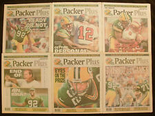 Lot of 6 Different Green Bay Packers Plus Papers - Reggie White on Cover