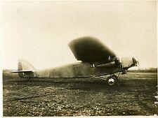 """""""Avion Trimoteur S.P.C.A. VII Appareil Postal 1929"""" Photo originale S.P.C.A."""