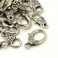 Clasps Jewelry Clasps Antiqued Silver Assorted Clasps Lobster Parrot Clasps 10pc