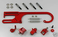 RED BILLET THROTTLE CABLE LINKAGE BRACKET CVR HOLLEY DEMON HOLDEN FORD CHEV