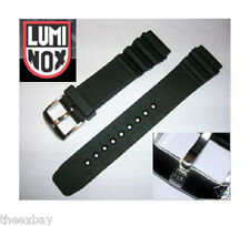 Luminox ITALIAN Rubber Watch Band Strap IRB 22mm 3000 3900 8400 8000 BLACK OPS