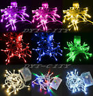 Battery Power Operated Fairy Lights String 10-80LED Bulbs Wedding Indoor/Outdoor