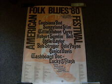 AMERICAN FOLK& BLUES FESTIVAL - ORIGINAL TOURPOSTER 1980 (Günther Kieser) L+R