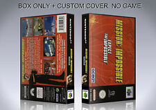MISSION IMPOSSIBLE. PAL VERSION. Box/Case. Nintendo 64. BOX + COVER. (NO GAME).