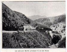 1911  --  LES AUTOCARS BERLIET GRAVISSANT LE COL DES ARAVIS   3K777