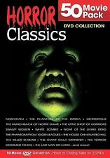 HORROR CLASSICS - 50 MOVIE PACK - SET OF 12 DVDS