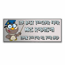 Best Teacher Ever Fridge Magnet custom printed with your name unique gift id210F