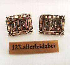 Manschettenknöpfe 835 er Silber mit 585 er Gold Monogramm AM Cufflinks / AS 136