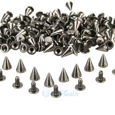 10MM Spots Cone Screw Metal Studs Rivet Bullet Spikes Punk DIY Leathercraft Bag