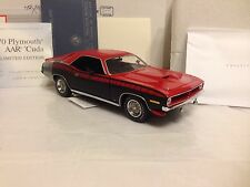 1/24 Franklin Mint Reverse Red 1970 AAR CUDA Plymouth Limited Ed of 30