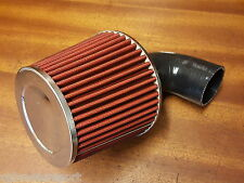RENAULT 5 GT TURBO RED CONE INDUCTION AIR FILTER + FITTING KIT SILICONE BLACK