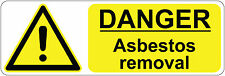 300 x 100 mm ] DANGER - ASBESTOS REMOVAL | health and safety | signs/stickers