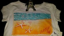 ��NEW ROXY GIRL SHORT SLEEVE T-SHIRT WHITE SIZE 4 NEW WITH TAG ��
