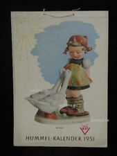 "Goebel Hummel Kalender Calendar 1951, Titelbild ""Gänseliesl"""
