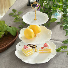 2/3 Tier Cake Plate Stand Cupcake Fittings Silver Golden Wedding Party Cocktail&