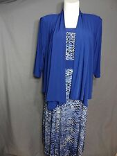 Kathy Roberts Fit and Flare Sleeveless Garment dress with Cardigan size 18W