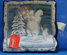 Coca-Cola Coke Polar Bear ChristmasTree Tapestry Throw Pillow