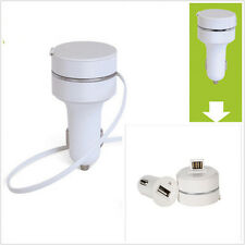 Car Charger Retractable Wire 3in1 Double Micro USB for Iphone 4s/5/5C/5S/6/Plus