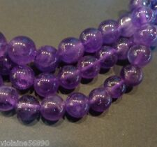 LOT 10 PERLES PIERRE NATURELLE ROND AMETHYSTE 8 mm AMETHYST NATURAL STONE BEADS