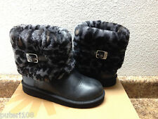 UGG ELLEE ANIMAL LEOPARD BLACK MAYLIN KID YOUTH US 5 FIT WMN US 7 / EU 38/UK 5.5