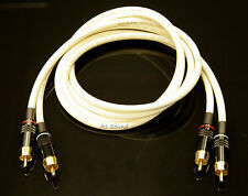 Van Damme White Ultra 1.5 Metre Pair Interconnect Cables RCA To RCA (Phono) NEW