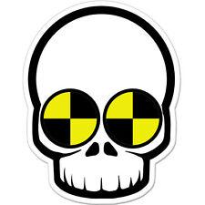 """Skull Crash Test Dummy Styling car bumper sticker decal 5"""" x 4"""""""