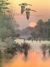 Ducks Unlimited 1992 Jerry Raedeke Sunset Limited Edition Signed Print