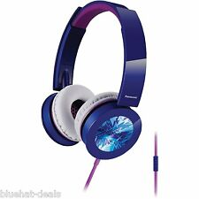 PANASONIC RP-HXS400M-A Sound Rush Plus On-Ear Headphones With Microphone Blue