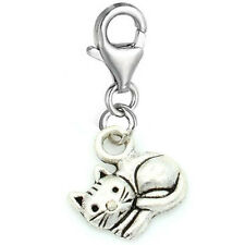 """Curled Up Cat"" Clip on for Bracelet Charm Pendant for European Charm Jewelry..."