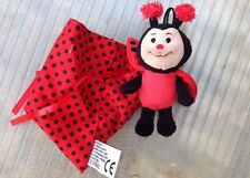 Kinder Ferrero Ladybird Promo Soft Toy With Pouch And hanger 8''