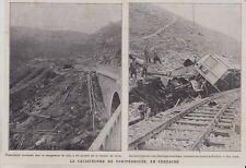 1909  --  LA CATASTROPHE DE TRAIN DE FONTPEDROUSE EN CERDAGNE   3I913