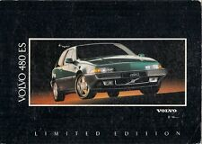 Volvo 480 ES Limited Edition 1.7 1992 UK Market Foldout Sales Brochure