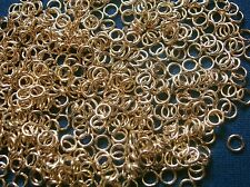 Jump rings open 4mm gold plated 20 ga round wire 500 pcs jewelry charms FPJ028