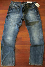 GUESS Slim Straight Leg Jean Men's Size 34 X 30 Hot Vintage Distressed Wash NEW