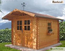 Casetta legno giardino LA PRATOLINA alta qualità spessore 33 mm di abete 2,5x3