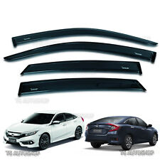 BLACK VISOR WEATHER GUARDS 4DOOR WINDSHIELD FOR HONDA CIVIC SEDAN FB6 2016 2017
