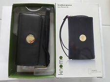 Knomo leather case with wriststrap for iphone 4S or other mobile phone