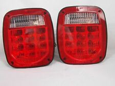 76-06 WRANGLER CJ YJ TJ LED TAIL LIGHTS JEEP TRAILER RUBICON OFFROAD