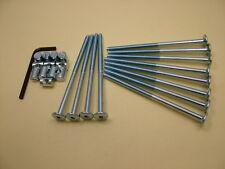 Bed / cot bolts 12 sets of M6 x 115mm bolt, allen key & 14mm barrel nut=25 items