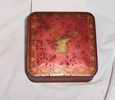 VTG McVities Prices Digestive Biscuit Tin Free Sample England Red Stag 1930s N