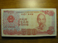Vietnam 1988 Five Hundred 500 Vietnamese Dong Paper Money Banknote P#101 UNC