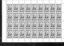 USSR, Russian stamp Full sheet SC5037 G. Dimitrov, Bulgarian PM  36 stamp MNH